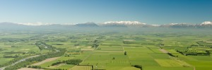 Aerial of Mid Canterbury Plains