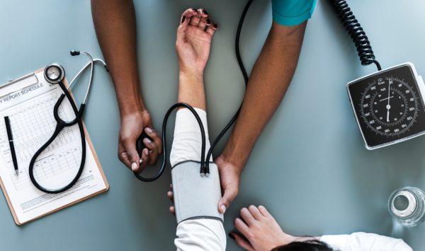 Doctor giving checkup