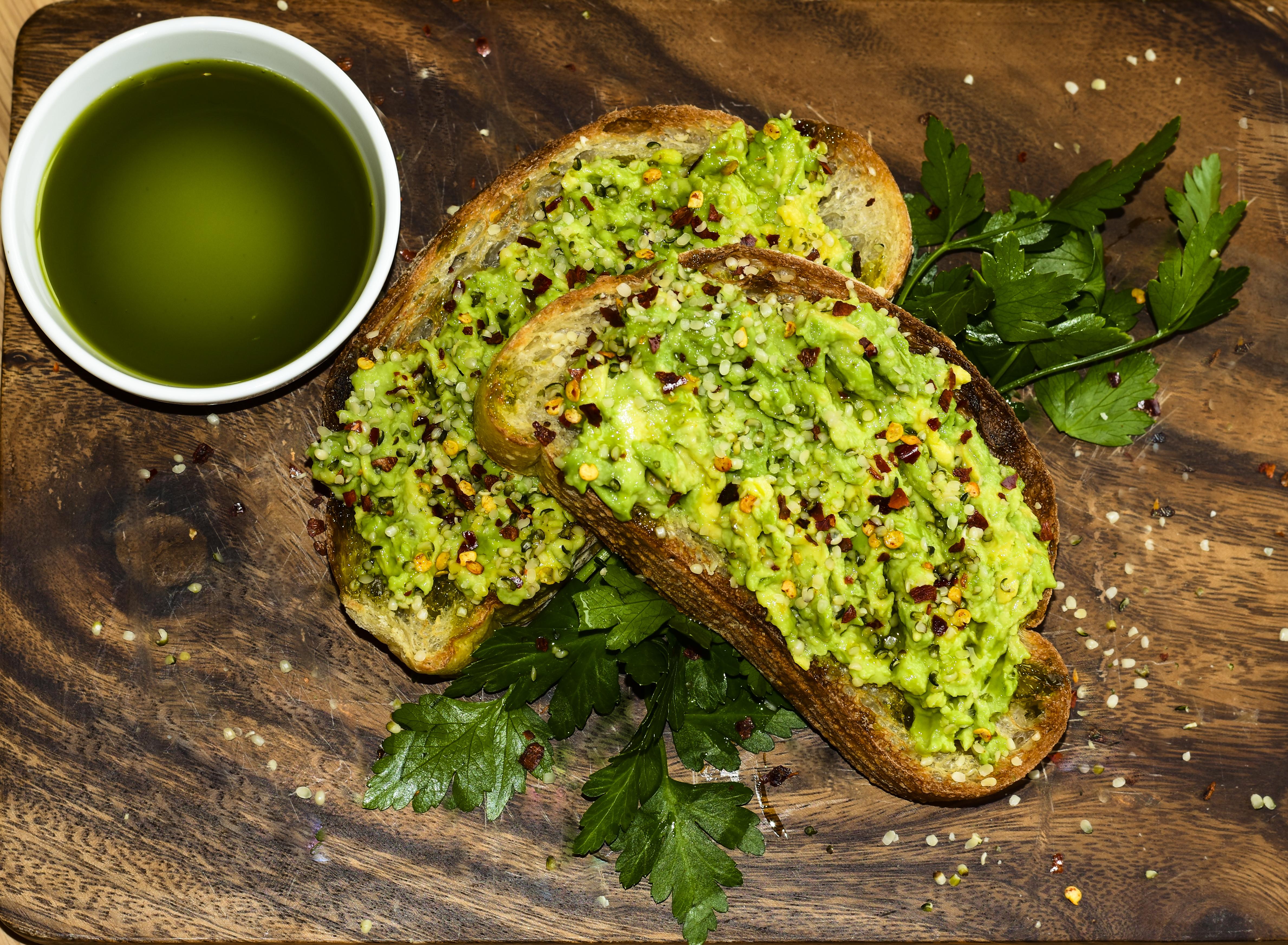 Hemp Breakfast Avocado and Hemp on Toast