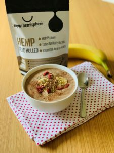 Hemp Drink Coconut Banana Hemp Smoothie Bowl